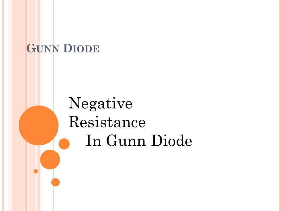 Negative Resistance In Gunn Diode