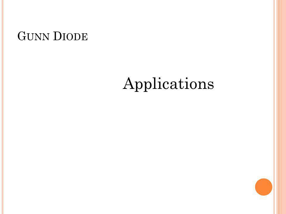 Gunn Diode Applications