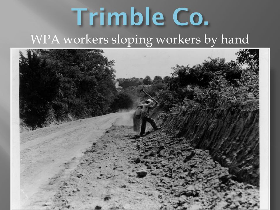 WPA workers sloping workers by hand