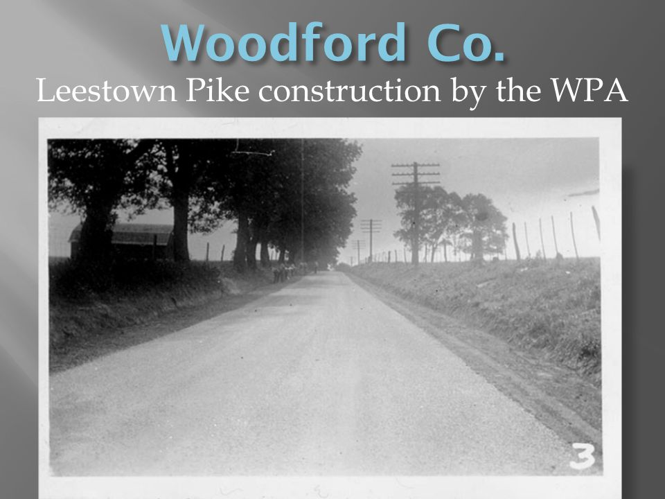 Leestown Pike construction by the WPA