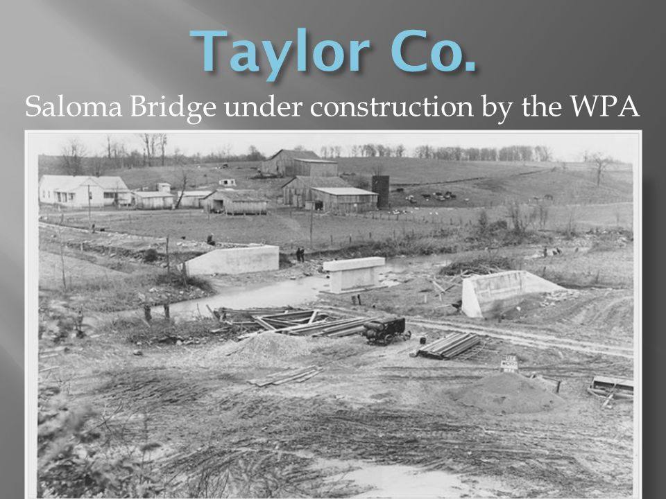 Saloma Bridge under construction by the WPA