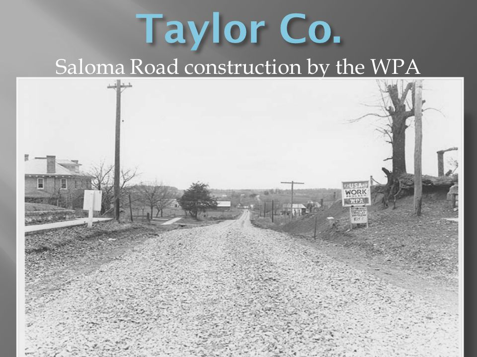 Saloma Road construction by the WPA