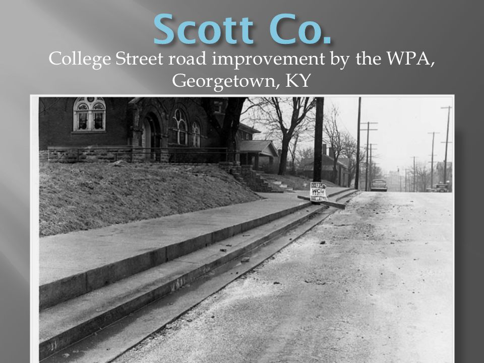 College Street road improvement by the WPA, Georgetown, KY