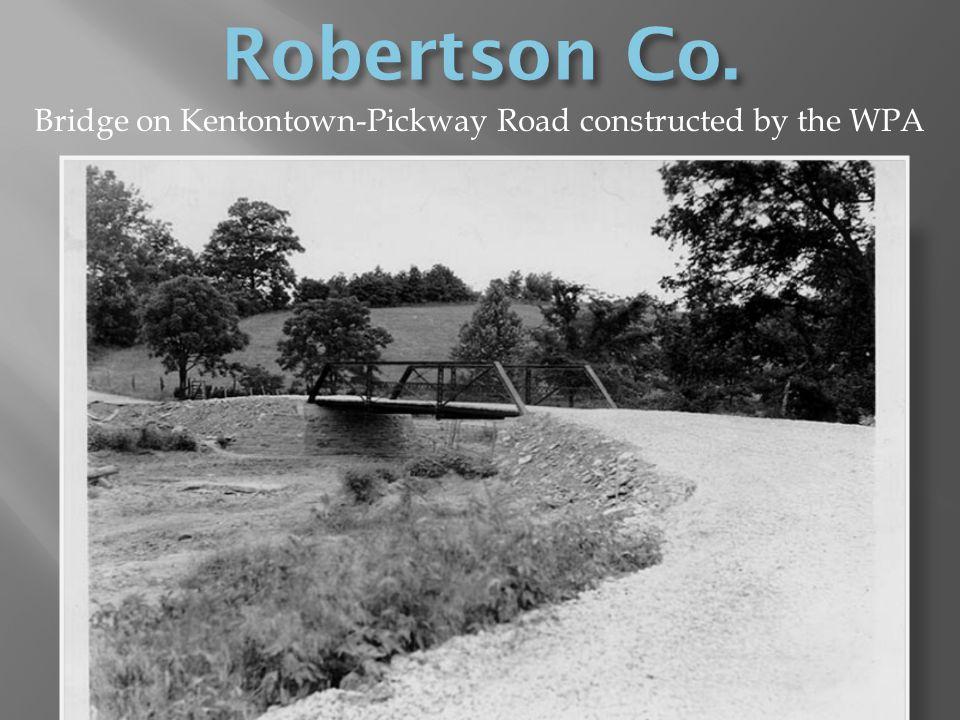 Bridge on Kentontown-Pickway Road constructed by the WPA