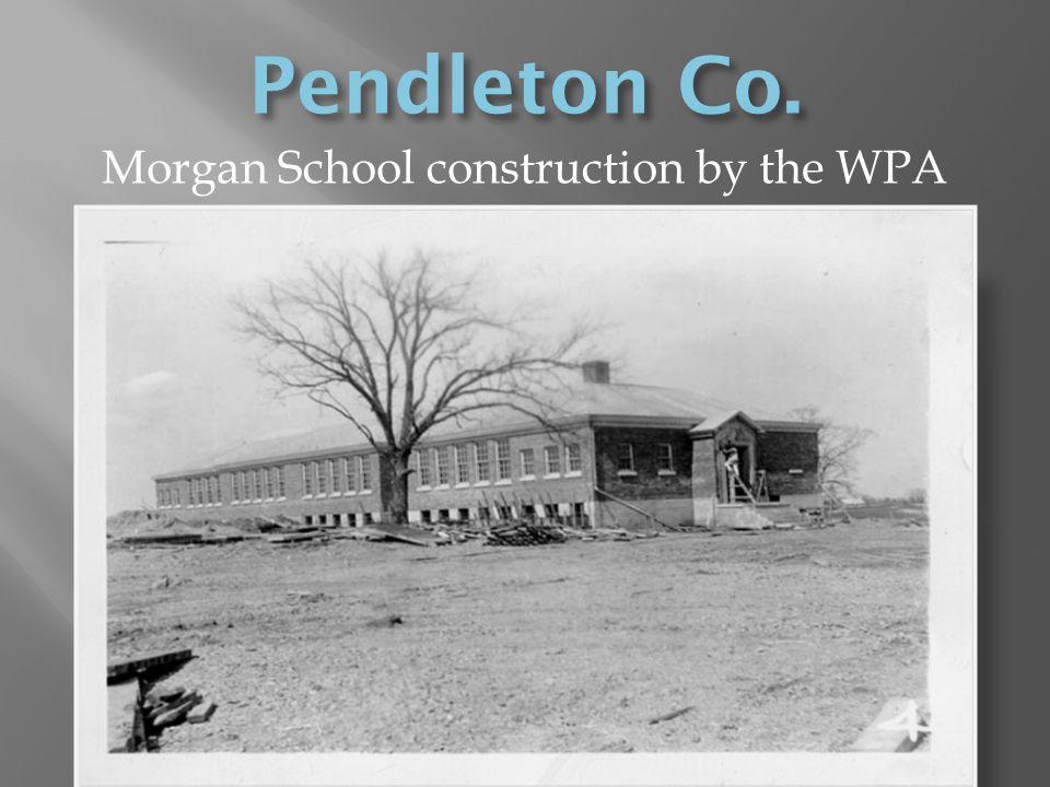 Morgan School construction by the WPA