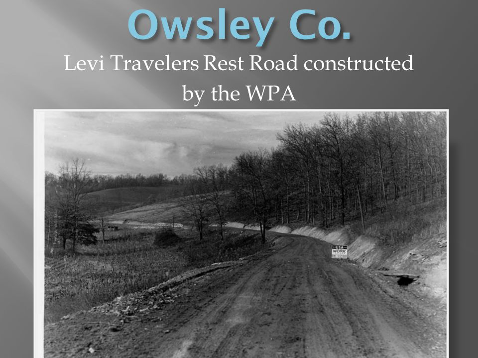 Levi Travelers Rest Road constructed
