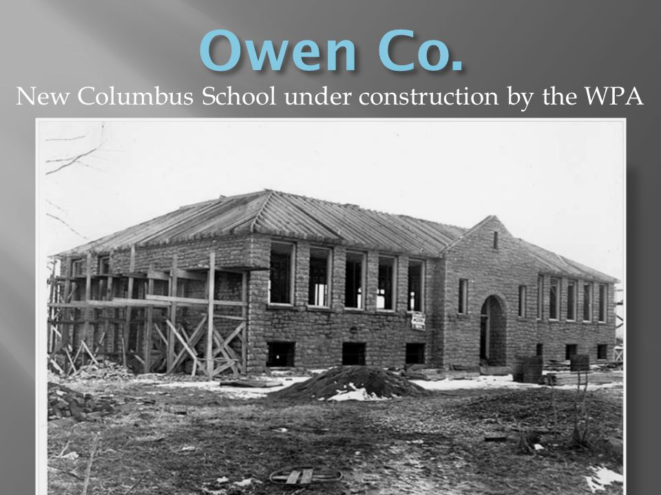 New Columbus School under construction by the WPA