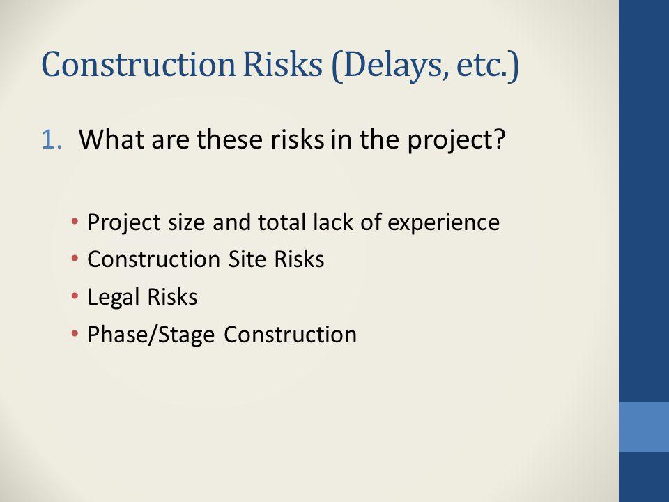 Construction Risks (Delays, etc.)