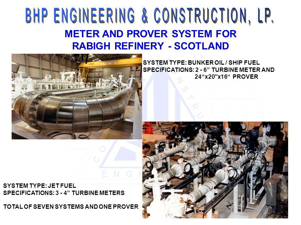 METER AND PROVER SYSTEM FOR RABIGH REFINERY - SCOTLAND