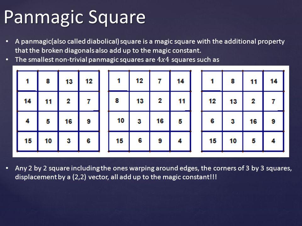 Panmagic Square