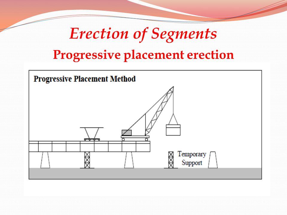 Progressive placement erection