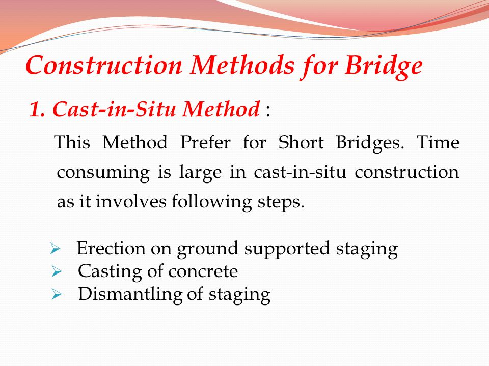 Construction Methods for Bridge