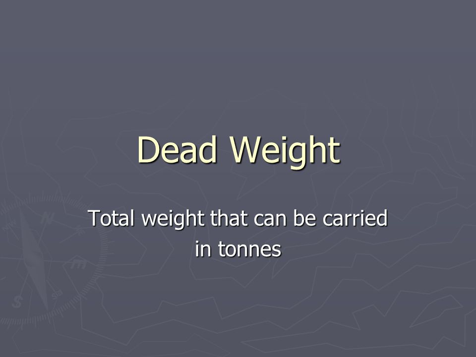 Total weight that can be carried in tonnes
