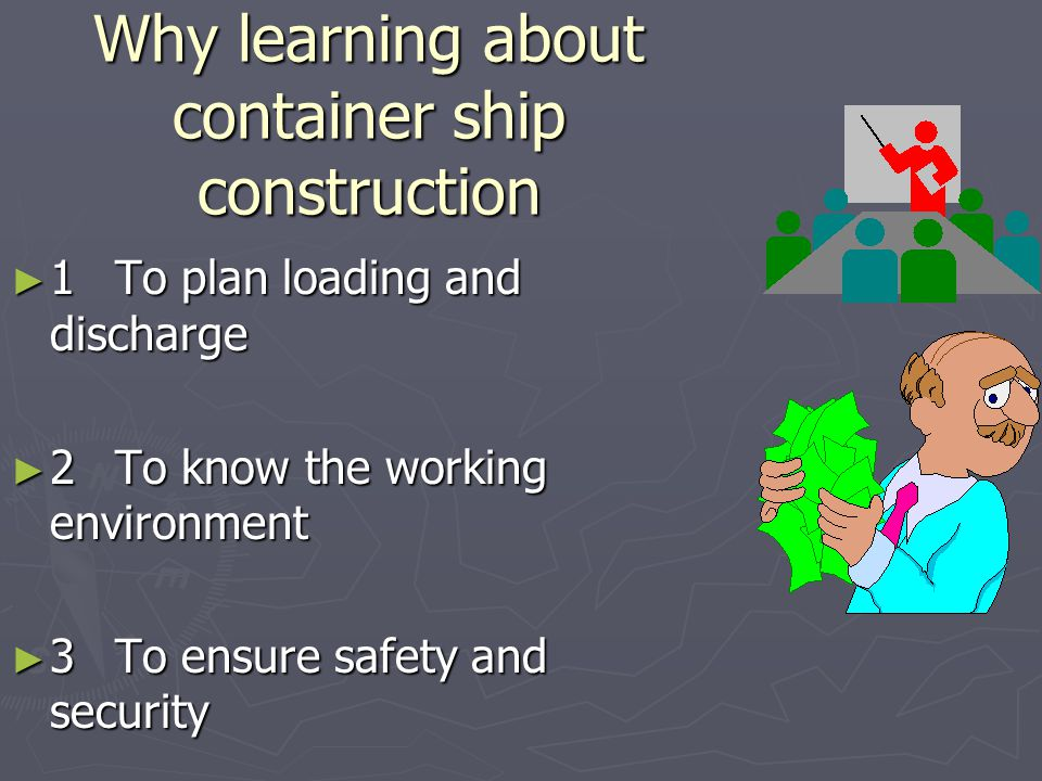 Why learning about container ship construction