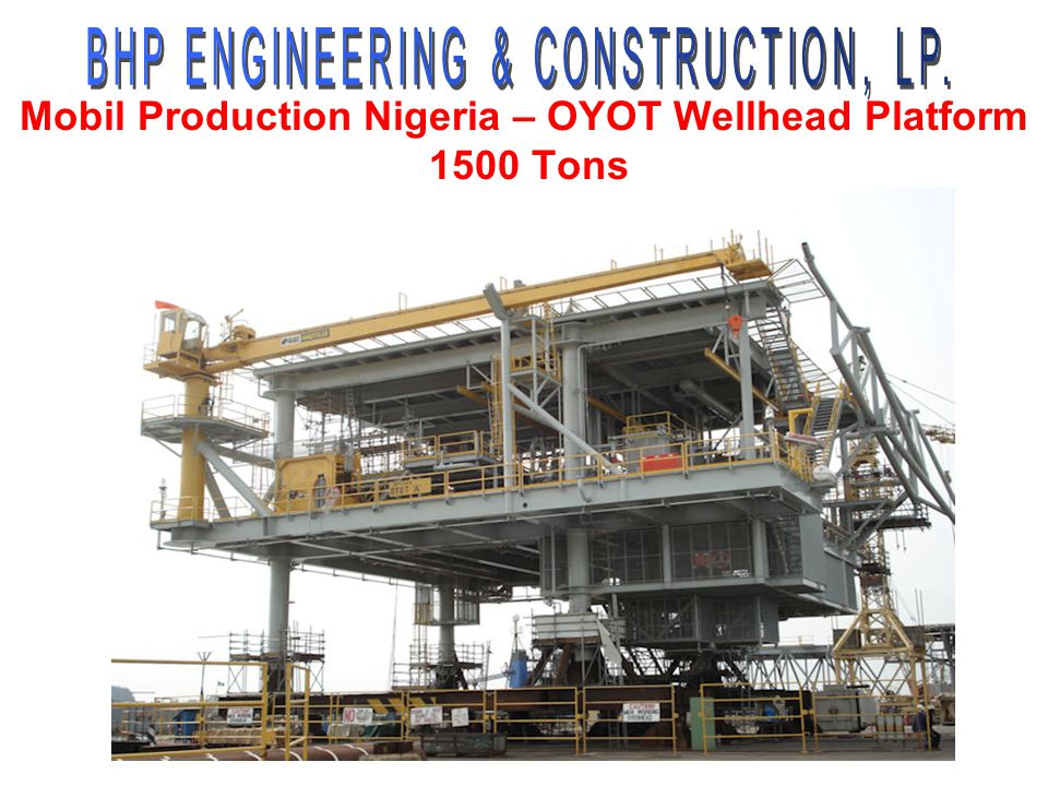 Mobil Production Nigeria – OYOT Wellhead Platform 1500 Tons