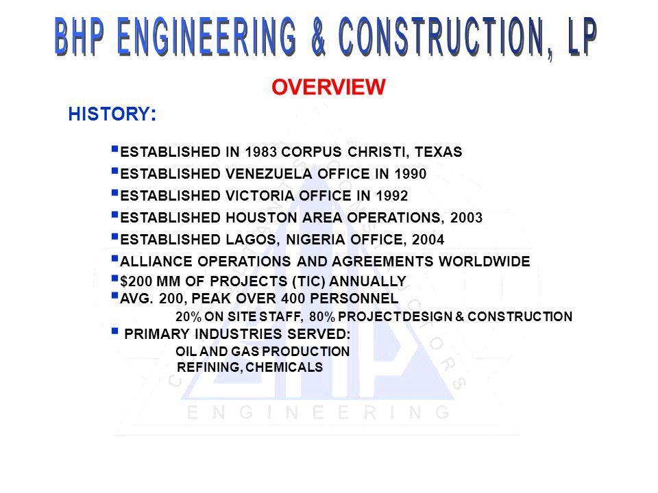 BHP ENGINEERING & CONSTRUCTION, LP