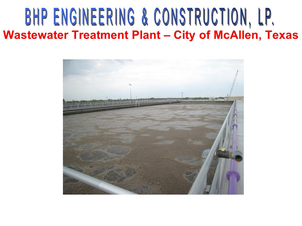 Wastewater Treatment Plant – City of McAllen, Texas