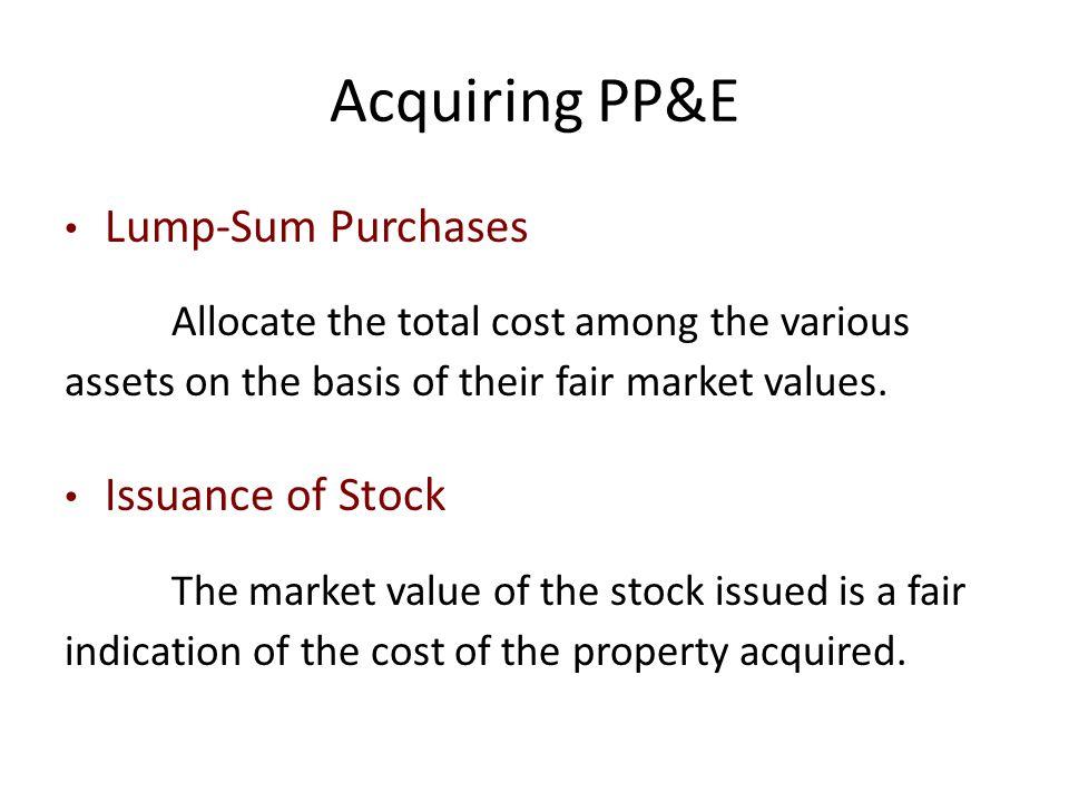Acquiring PP&E Lump-Sum Purchases