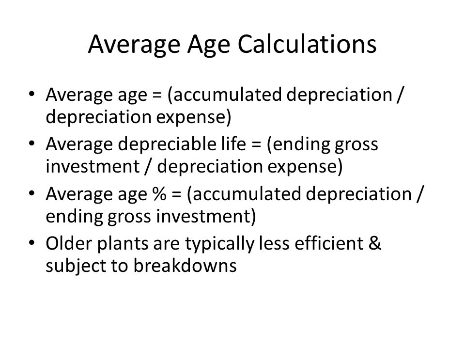 Average Age Calculations