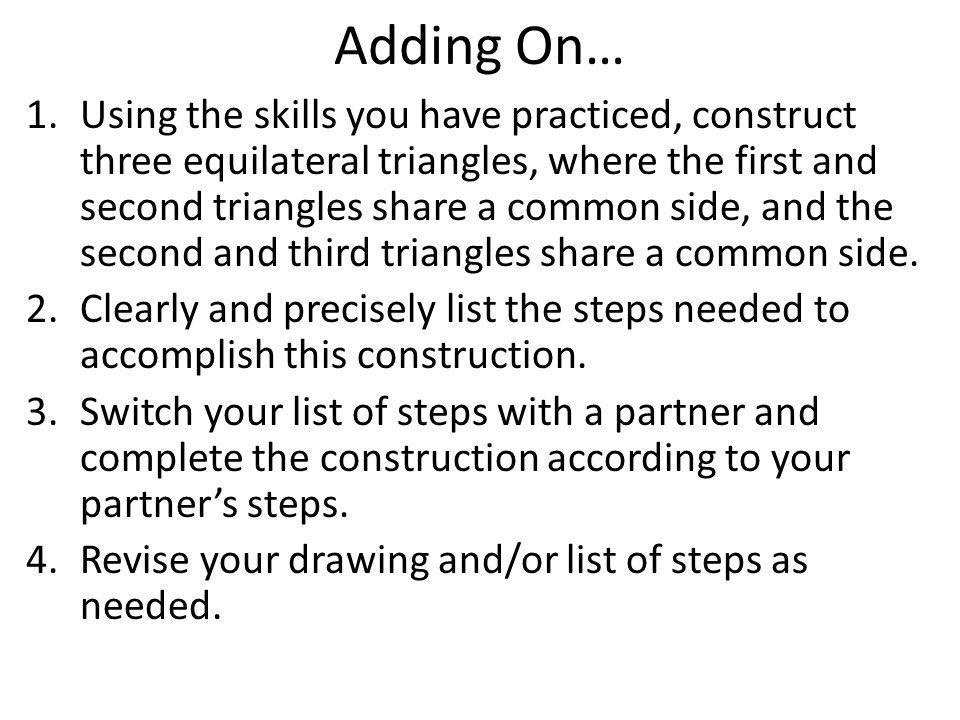Adding On…