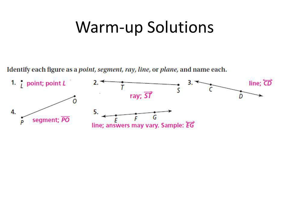 Warm-up Solutions