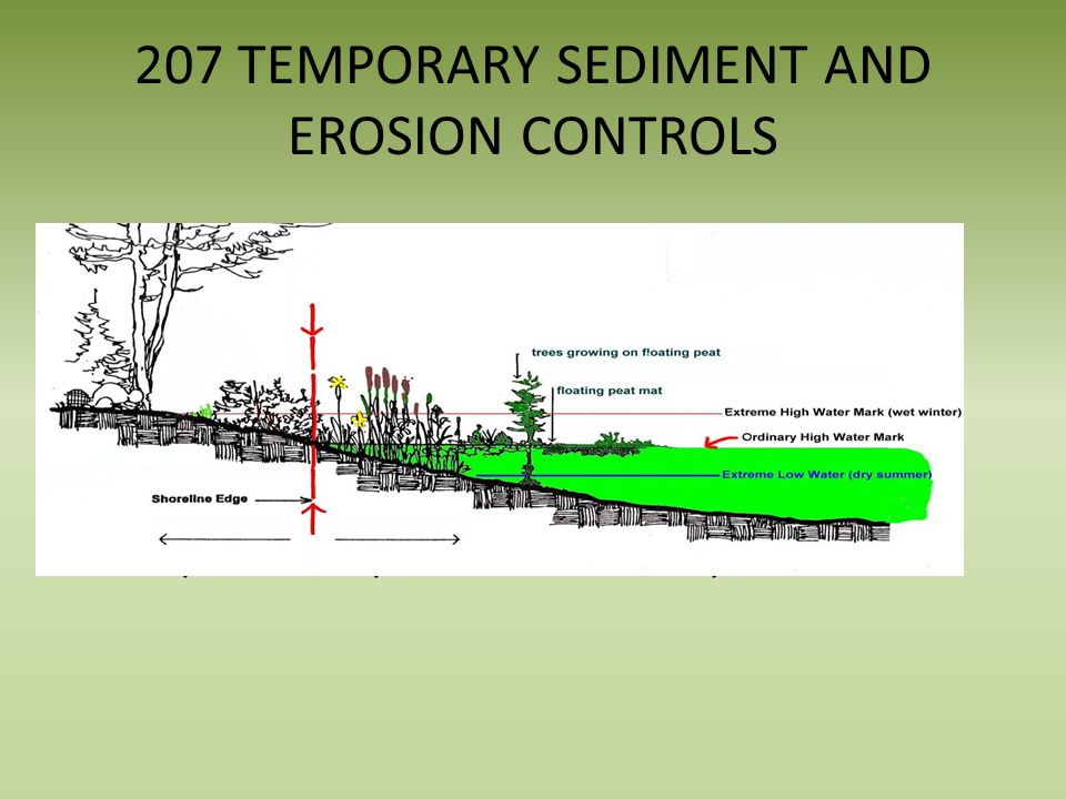 207 TEMPORARY SEDIMENT AND EROSION CONTROLS