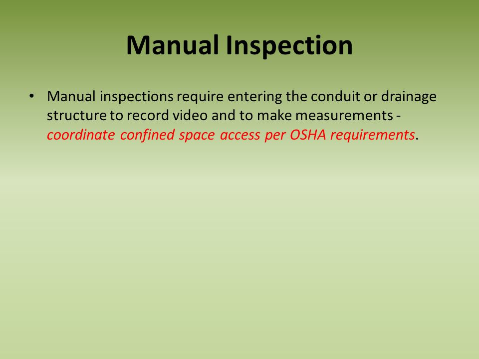 Manual Inspection
