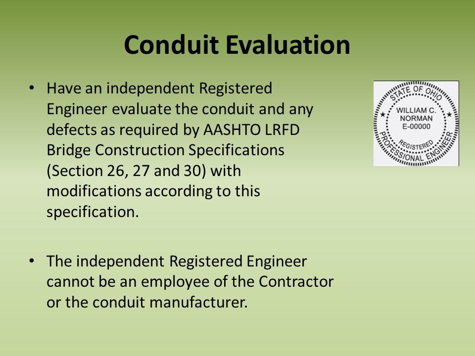 Conduit Evaluation