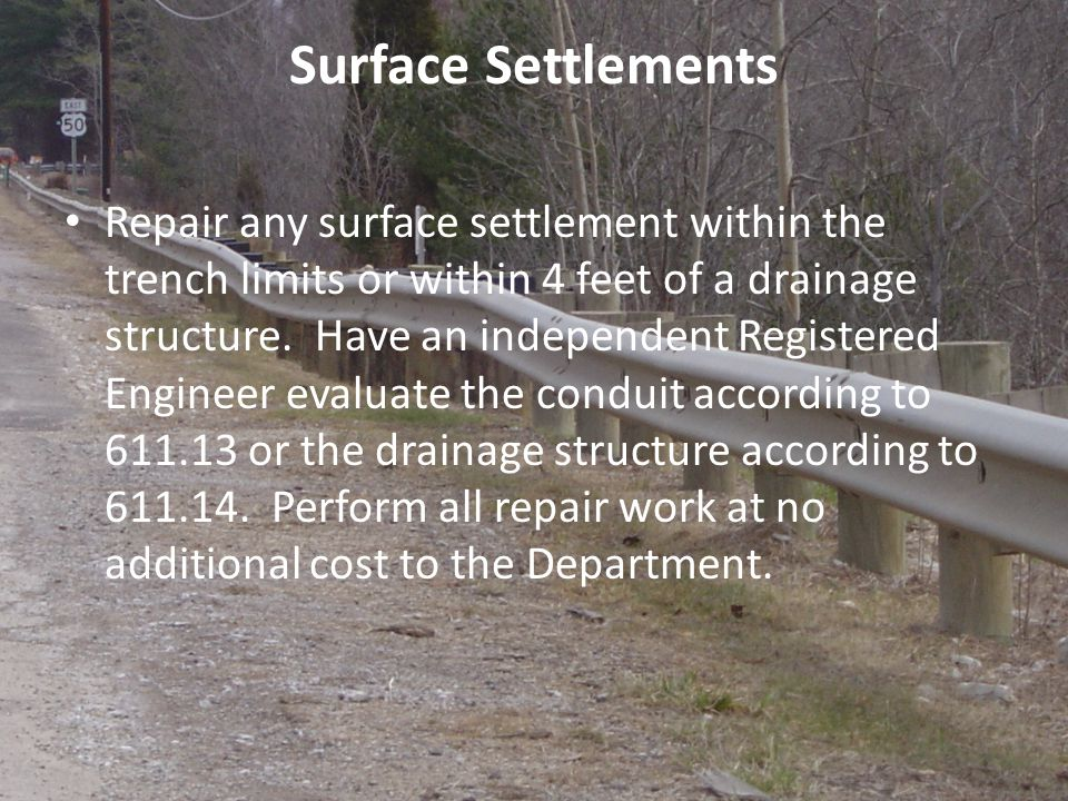 Surface Settlements