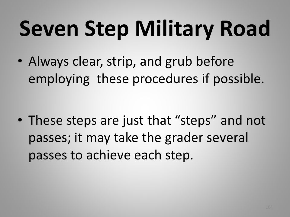 Seven Step Military Road