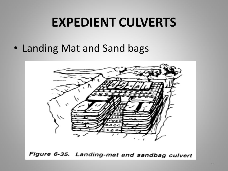 EXPEDIENT CULVERTS Landing Mat and Sand bags