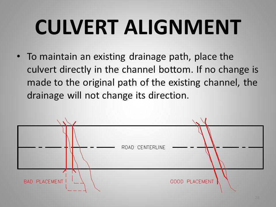 CULVERT ALIGNMENT