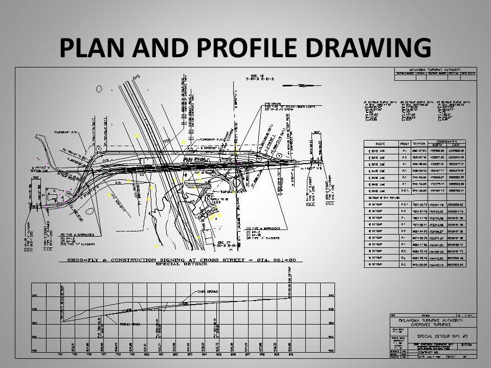 PLAN AND PROFILE DRAWING