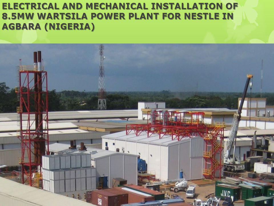 ELECTRICAL AND MECHANICAL INSTALLATION OF 8