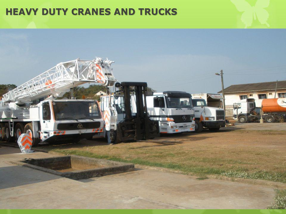 HEAVY DUTY CRANES AND TRUCKS