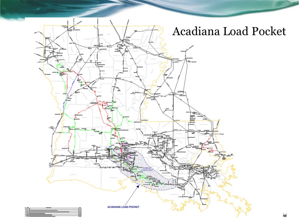 Acadiana Load Pocket This slide shows the location of the Acadiana Load Pocket as defined by the concerned members. Roughly.