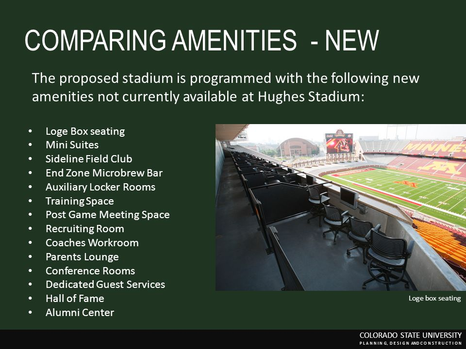 COMPARING AMENITIES - NEW