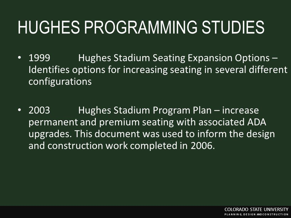 HUGHES PROGRAMMING STUDIES