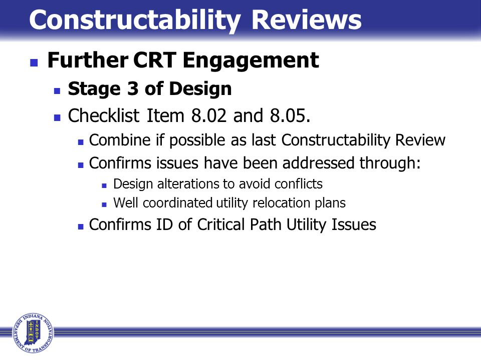Constructability Reviews