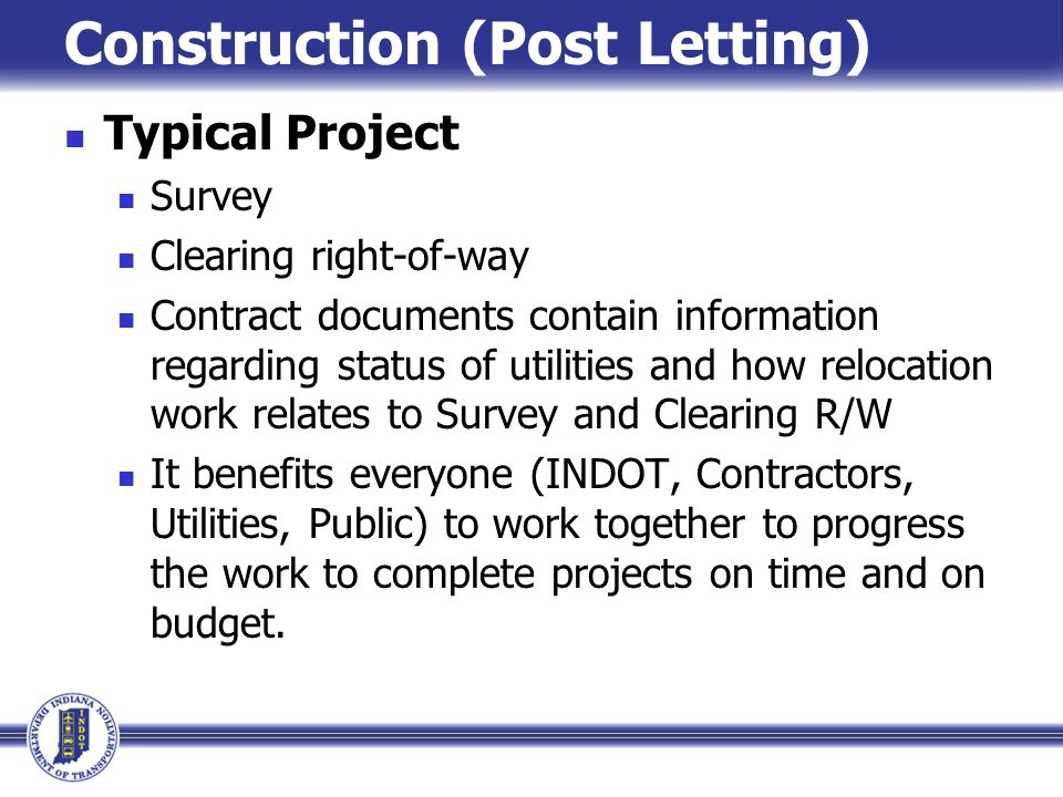 Construction (Post Letting)