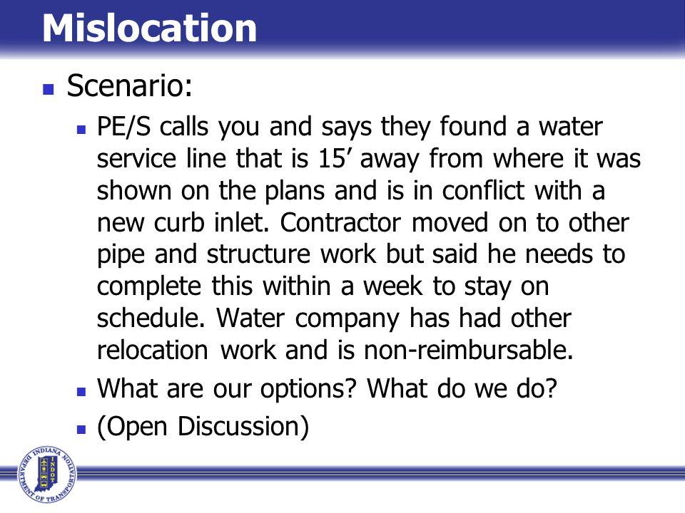 Mislocation Scenario: