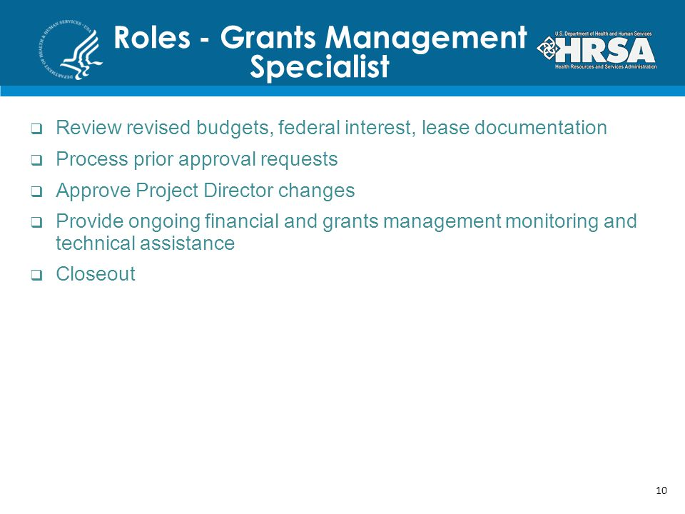 Roles - Grants Management Specialist