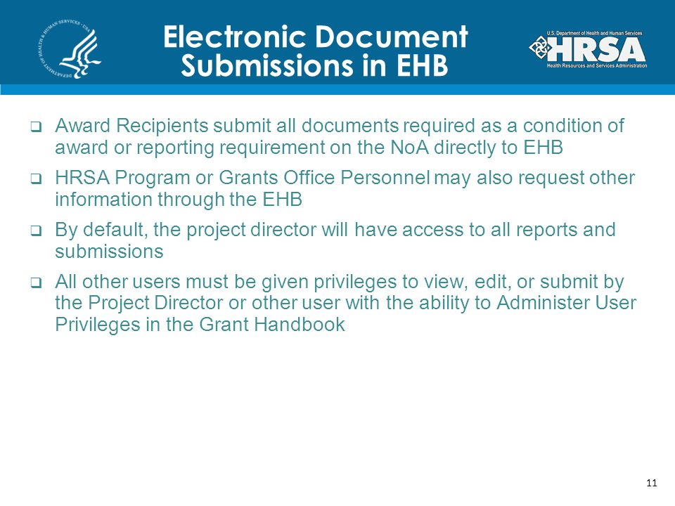 Electronic Document Submissions in EHB