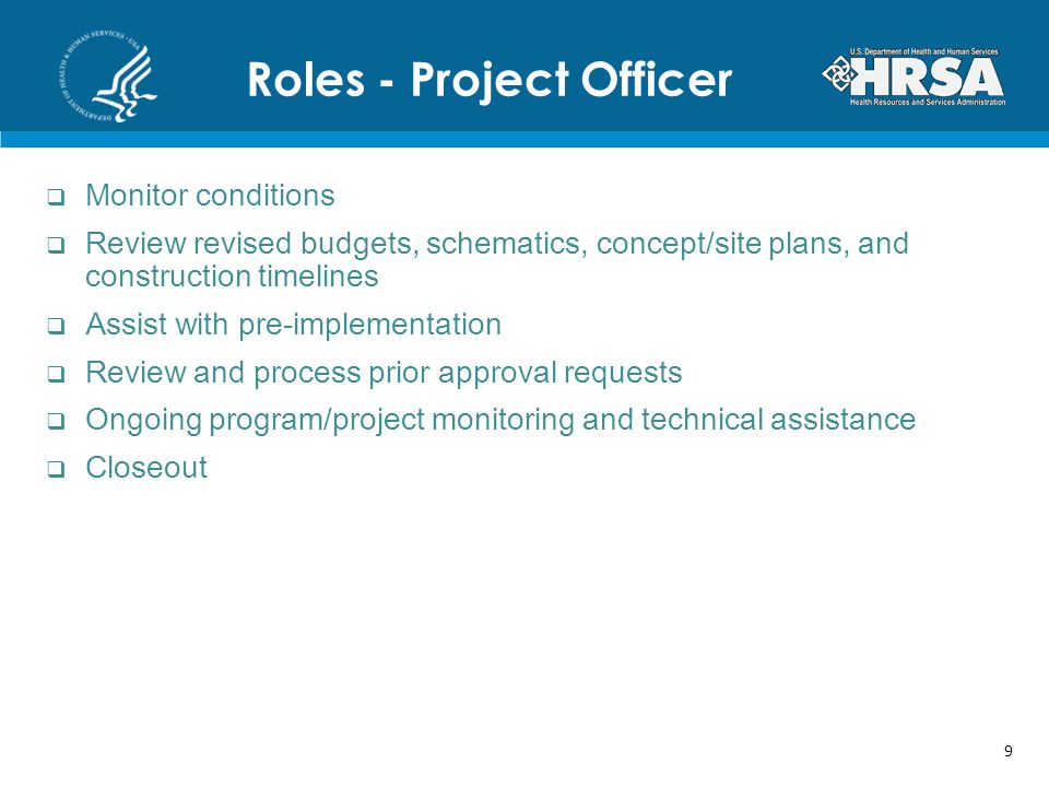 Roles - Project Officer