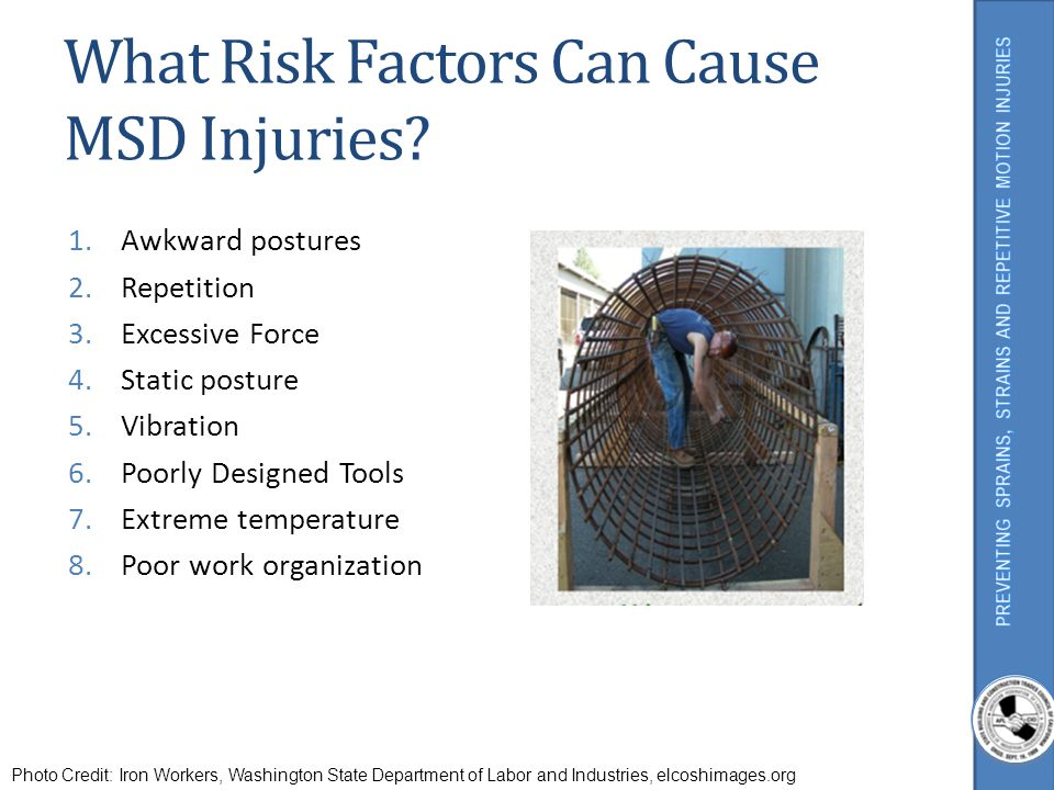 What Risk Factors Can Cause MSD Injuries