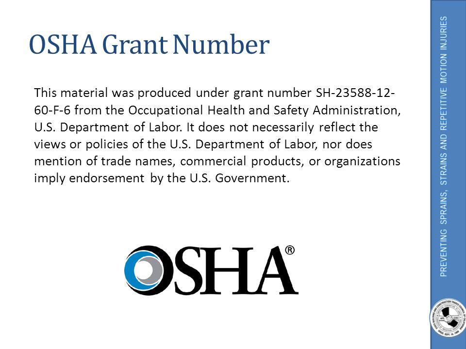OSHA Grant Number