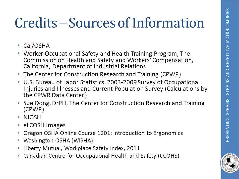 Credits ̶ Sources of Information
