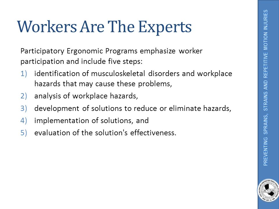 Workers Are The Experts