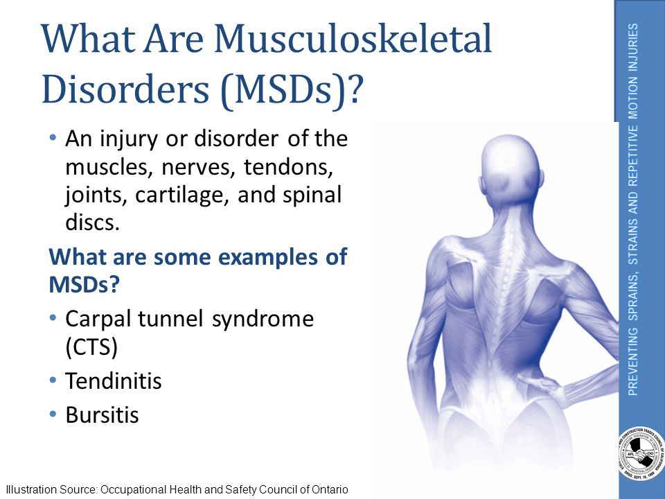 What Are Musculoskeletal Disorders (MSDs)
