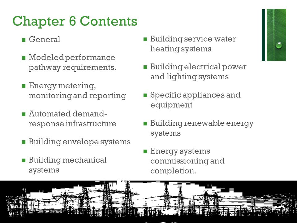 Chapter 6 Contents General Building service water heating systems